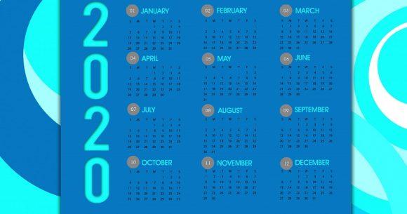 Les dates de 2020 à retenir