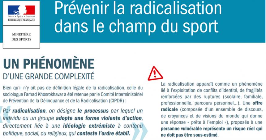 Prévention contre la radicalisation